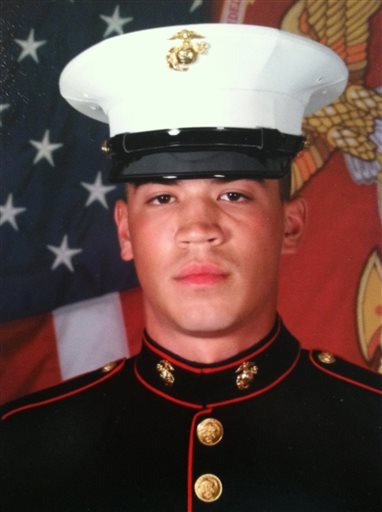 This undated photo provided by the Orlando Family shows Cpl. Christopher J. Orlando. Two helicopters each carrying six Marines went down off Oahu's north shore late Thursday, Jan. 14, 2016. The U.S. Marine Corps on Saturday, Jan. 16 released the names of the Marines missing including Orlando. (Courtesy Orlando Family via AP)