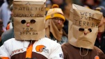 Cleveland Browns fans wear bags on their heads during an NFL football game against the Pittsburgh Steelers in Cleveland, Ohio, on Sunday, Jan. 3, 2016. (AP file)